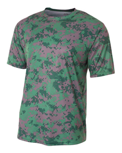 A4 Short Sleeve Camo Performance Tee.