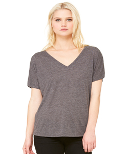 Bella+Canvas Women's 3.8 Ounce Slouchy V-Neck T-Shirt