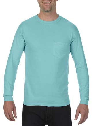 Comfort Colors Adult 6.1 Ounce Heavyweight Ring Spun Cotton Long Sleeve Pocket T-Shirt