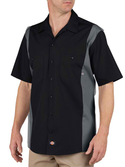 Dickies Adult 4.25 Ounce Short Sleeve Industrial Color Block Work Shirt. (WAS STYLE LS524)