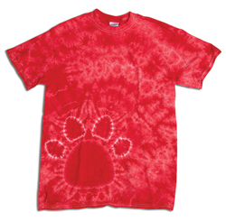 Dyenomite Youth 5.3 Ounce Paw Print T-Shirt