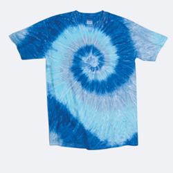 Dyenomite Youth 5.3 Ounce Tie Dye Ripple Spiral T-Shirt