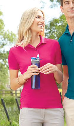 Gildan Ladies 4.7 Ounce 100% Polyester Jersey Gildan Performance® Short Sleeve Polo