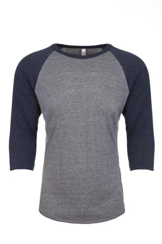 Next Level Unisex 4.3 Ounce Tri-Blend 3/4 Sleeve Raglan