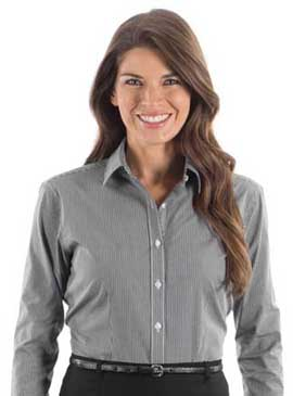 Van Heusen Ladies 3.4 Ounce Gingham Check Long Sleeve Shirt