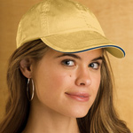 Anvil Solid Low-Profile Sandwich Trim Pigment-Dyed Twill Cap