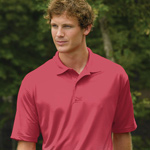Willow Pointe Men's Poly Horizontal Stripe Polo