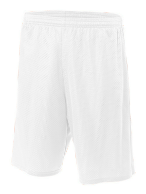 "A4 Youth 3.4 Ounce 6"" Lined Tricot Mesh Short."