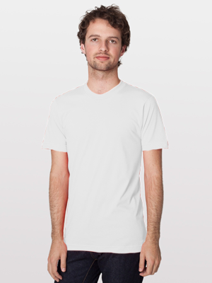 American Apparel Globally Made Adult Unisex 4.3 Ounce Fine Jersey Short Sleeve T-Shirt
