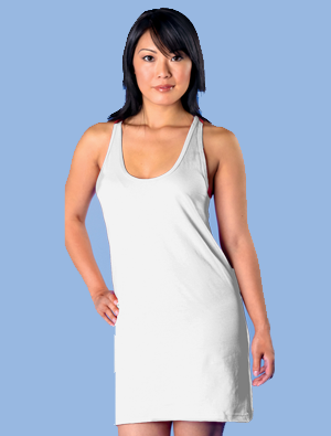 American Apparel Ladies 4.3 ounce Racerback Tank Dress