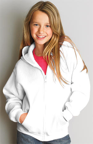 Gildan Heavy Blend 8.0 Ounce Youth Full Zip Hooded Sweatshirt